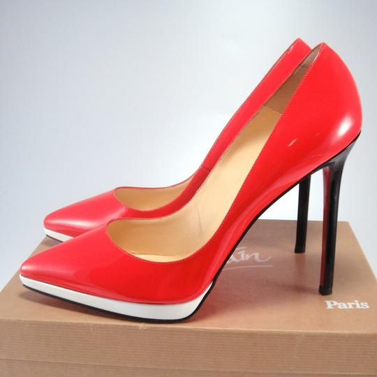 Christian Louboutin Pigalle Plato Red Black Pumps