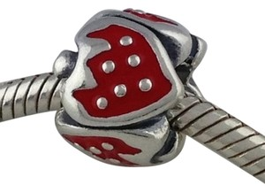PANDORA Pandora Sweet Strawberry Sterling Silver Red Enamel Bead Charm 791091EN09 Retired