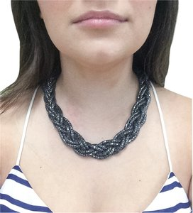 Express Braided Gunmetal Necklace