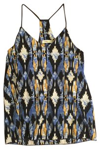 Newbury Kustom Aztec Blue Black Yellow Top