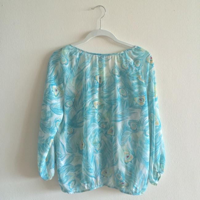H&M Top Blue and yellow