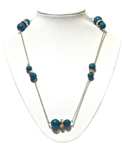 Kate Spade Kate Spade New York Blue Crystal Mod Squad Scatter Long Necklac