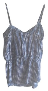 Kirra Top Navy blue with light pink dots
