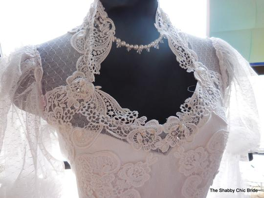 Lace And Ruffle Wedding Dress