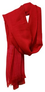 Kate Spade Brand New Kate Spade Academy Red Fringe Scarf