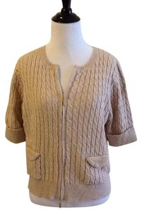 Saks Real clothes 79% Cotton 21% Wool Dry Clean Made In China Handwash Cold Cardigan