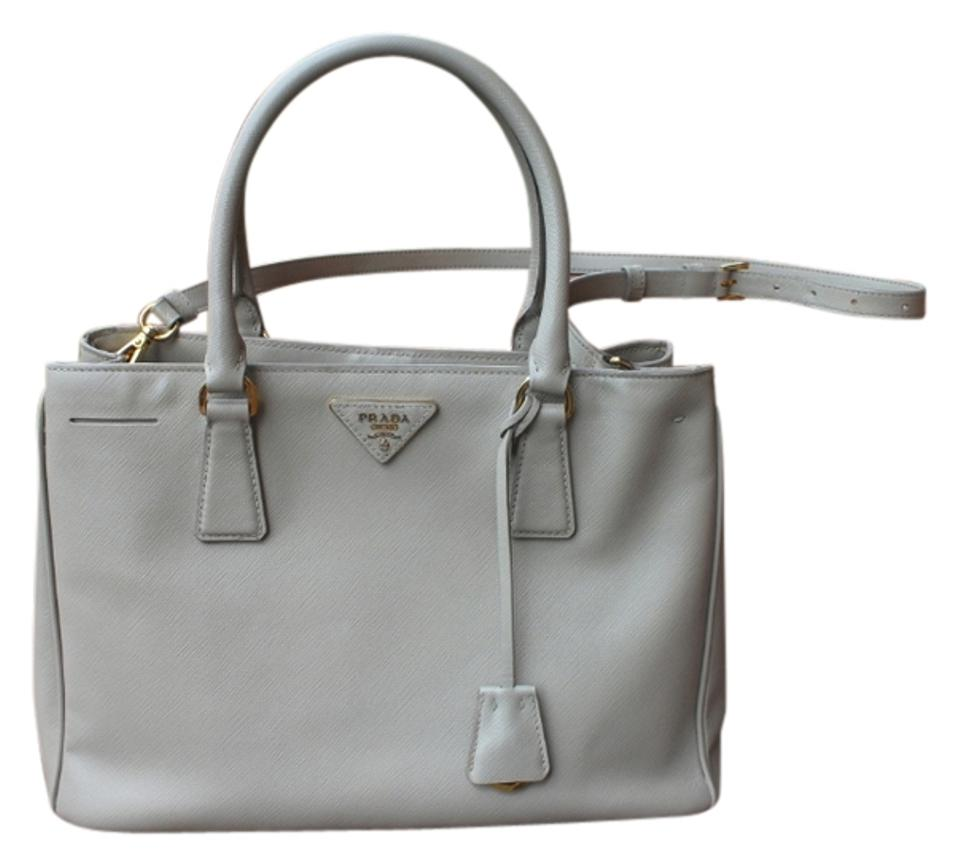 d06e6a4d215e Prada Gardener s In Large Gray Saffiano Leather Tote - Tradesy