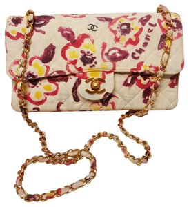 Chanel Flap Flower Single Flap Canvas Shoulder Bag