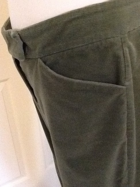 Theory Casual Flare Pants olive green