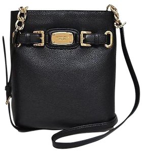 Michael Kors Hamilton Crossbody Leather Black Messenger Bag