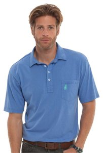 Johnny-O Mens Polo West Coast Prep T Shirt Heather Periwinkle
