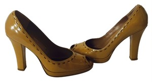 Via Spiga Dot Naplack Patent Camel Platforms