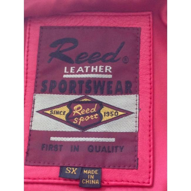 Reed Leather Sportswear Red Leather Jacket