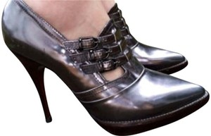 Jonathan Kelsey for Mulberry Gunmetal Boots