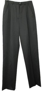 Escada Wool Straight Pants BLACK