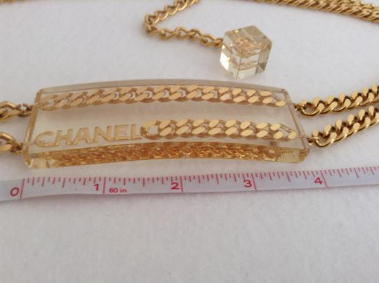 Chanel CHANEL SUPER RARE '97P GOLD PLATED CHAIN LINK LUCITE BELT Image 2