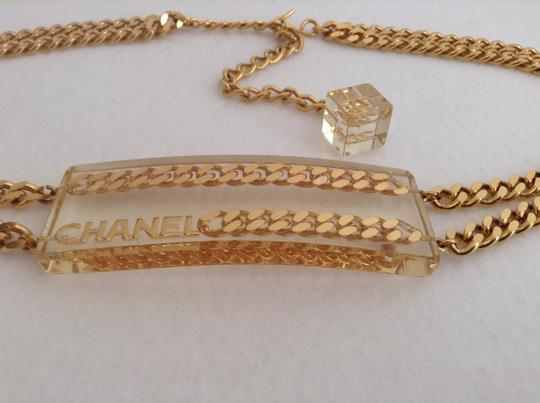 Chanel CHANEL SUPER RARE '97P GOLD PLATED CHAIN LINK LUCITE BELT Image 3
