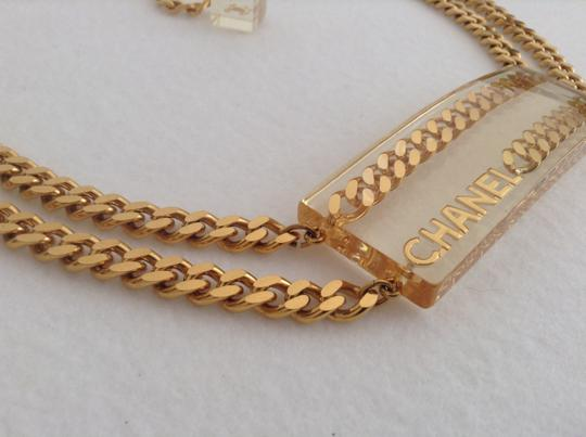 Chanel CHANEL SUPER RARE '97P GOLD PLATED CHAIN LINK LUCITE BELT Image 4