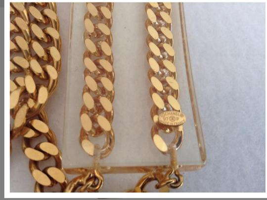 Chanel CHANEL RARE '97P GOLD PLATED CHAIN LINK LUCITE BELT / NECKLACE