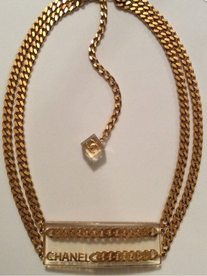 Chanel CHANEL SUPER RARE '97P GOLD PLATED CHAIN LINK LUCITE BELT Image 7