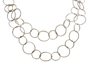 Milor .925 Italy Sterling Silver Textured 2 row Circle 17