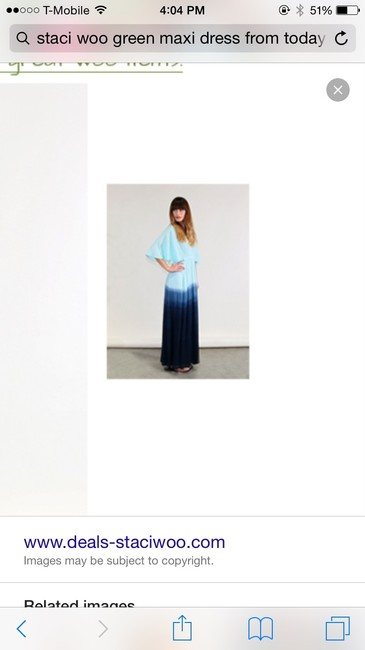 Blue ombre Maxi Dress by Staci Woo
