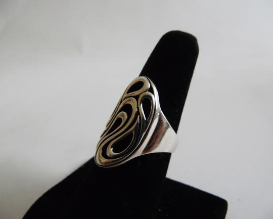 Other Silver Style .925 Sterling Silver Filigree Design Ring size 9 QVC