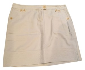 Jones New York Mini Skirt Beige .