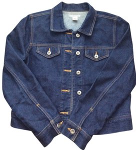 Rubbish Nordstrom Denim Denim Jean Dark blue Womens Jean Jacket
