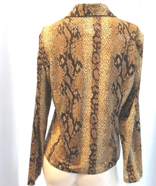 Misook Animal Print Stretchy Top