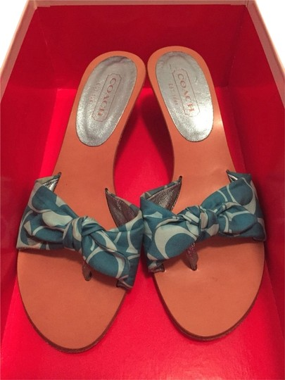 Coach Turquoise Wedges