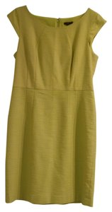 Ann Taylor Sheath Lime Dress