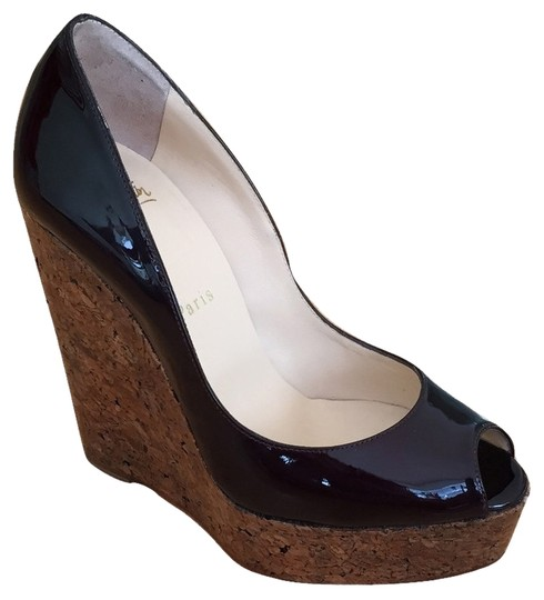 Christian Louboutin Une Plume 140mm Burgundy Wedges