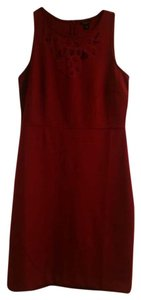 Ann Taylor Maroon Wine Burgundy Sheath Dress