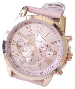 Other Fashion Pink PU Leather Sports Watch Free Shipping
