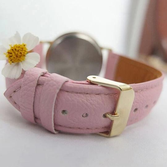 Other BOGO Fashion Pink PU Leather Sports Watch Free Shipping