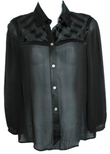 DKNY Black Silk Top
