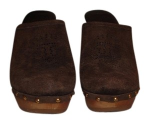 Tory Burch Size 6.5 Brown Mules