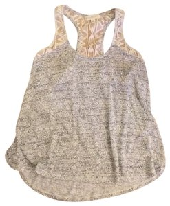 Aéropostale Lace Racerback Top Grey