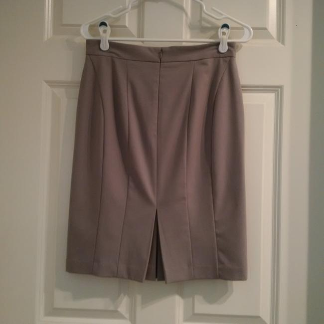 Ann Taylor Business Pencil Gray Lined Skirt Light Gray