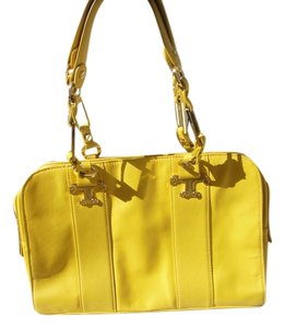 Tory Burch Satchel in Yellow Moustard