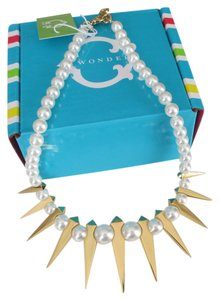 C. Wonder C Wonder Graduated 14K Gold Plated Spike Pearl Necklace