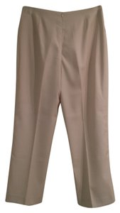 Moi Meme Lined Slacks Straight Pants Cream