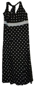 Esprit short dress Black with white Polka Dots on Tradesy