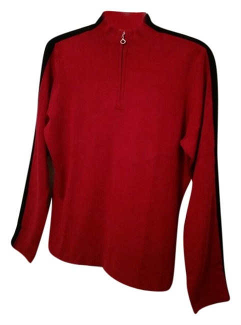 Liz Claiborne 1/4 Zip Mock Collar Sweater