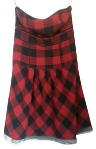 American Eagle Outfitters short dress Black & red plaid on Tradesy