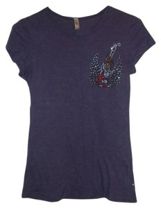 Michele Studded Rocker T Shirt Purple