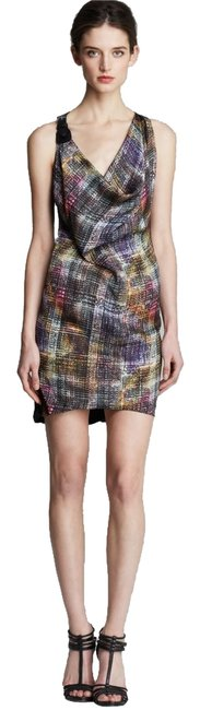 Preload https://item5.tradesy.com/images/cut25-by-yigal-azrouel-cowl-neck-with-buckle-purple-multi-knee-length-night-out-dress-size-8-m-6068134-0-0.jpg?width=400&height=650
