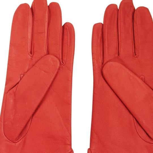 Fownes NEW FOWNES WOMAN'S RED LEATHER LINED GLOVES (7.5)
