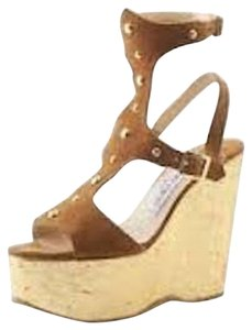 Jimmy Choo Gladiator Wedge Suede Studded Wedges
